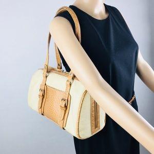 Liz Claiborne Canevas Leather Shoulder Bag